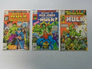 What If? lot 3 different Hulk issues avg 6.0 FN
