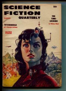 Science Fiction Quarterly-Pulp-8/1956-Mack Reynolds- Byce Walton