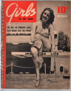 Girls In The News #2 10/1939- Earl & Peggy Moran-cheesecake-spicy pix-VG