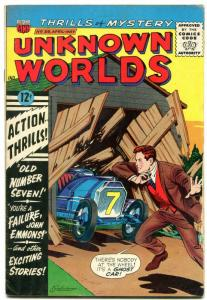 Unknown Worlds #39 1965- ACG Silver Age- Race Car cover VG-