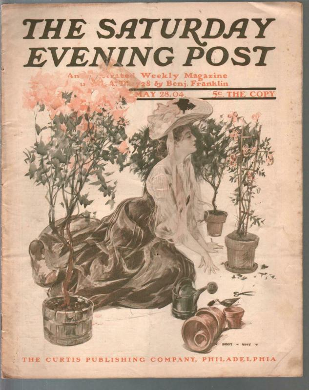 Saturday Evening Post 5/28/1904-Henry Nutt-Columbia Electric Carpulp fiction-VG
