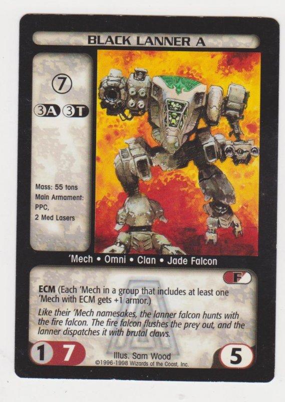 1998 Battletech Arsenal Card Black Lanner A