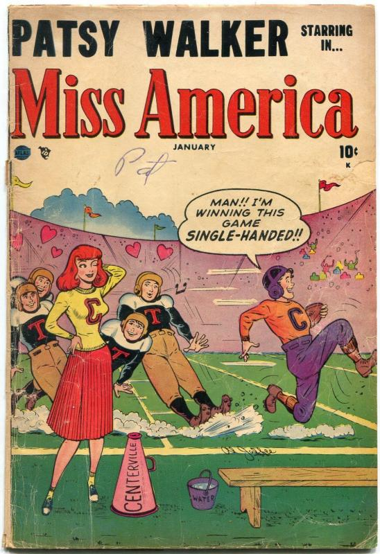 Miss America Vol 7 #43- Patsy Walker- Football cover POOR