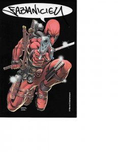 Deadpool Mini Print signed by Deadpool Co-Creator Fabian Nicieza