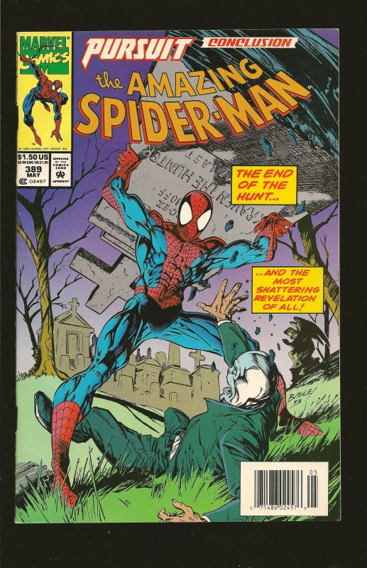 Marvel Comics The Amazing Spider-Man #389 (1994) With Cards
