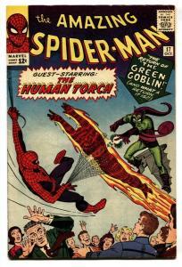 Amazing Spider-Man #17 comic book 1964-2nd Green Goblin-Human Torch FN