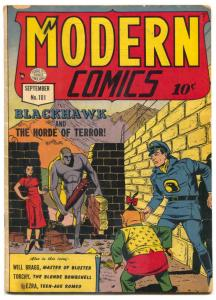 Modern Comics #101 1950- Blackhawk- Torchy - Robot cover VG