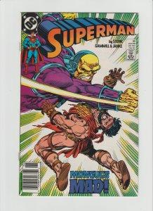 Superman 32 VF/NM 9.0 (1989, DC) Newsstand Variant!