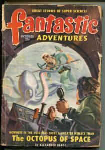 FANTASTIC ADVENTURES 10/1949-ZIFF-DAVIS-PULP SCI-FI-SWIATEK-PHILLIPS-BROWNING-fr