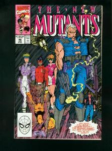 THE NEW MUTANTS #90 1990-ROB LIEFELD-SABRETOOTH-CABLE VF/NM
