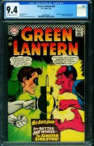 GREEN LANTERN #52 CGC 9.4 DC Sinestro comic book 2039574021