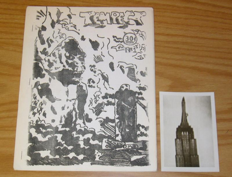 Tempest Fanzine #1 VF with real photo of King Kong on Empire State Building