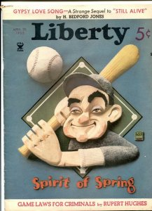 Liberty April 20 1935- Gypsy Love Song- H Bedford-Jones VG