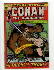 Conan The Barbarian # 11 FN Marvel Comic Book Barry Smith Kull King Sword NP16