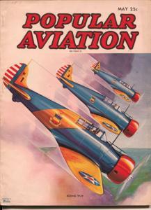 Popular Aviation 5/1937-Boeing YP-29 Fighter-H.R. Bollin-WWI-FN+