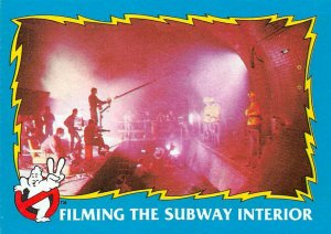 1989 Topps Ghostbusters #84 Filming The Subway Interior