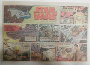 Star Wars Sunday Page by Al Williamson from 6/21/1981 Large Half Page Size!