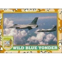 1991 Topps Desert Storm WILD BLUE YONDER #30