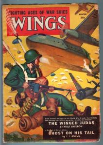 WINGS WINT 1951 PARACHUTE SOLIDER ATTACKS COMMIES-PULP VG