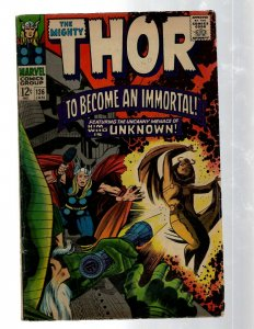 Mighty Thor # 136 FN Marvel Comic Book Loki Odin Asgard Sif Avengers Hulk RB8