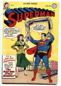 Superman #75 1952- DC Golden Age- Rare MISPRINT VARIANT VF