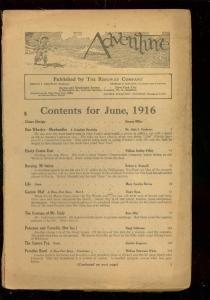 ADVENTURE PULP-JUNE 1916-BARGAIN READING COPY-RARE PULP P/FR