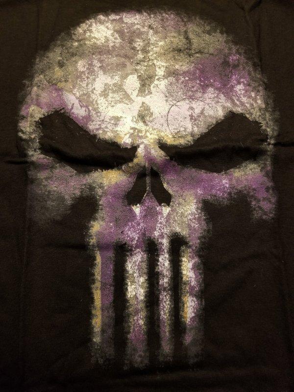 Punisher Purple Skull T-Shirt L NOS w/ Tags Marvel