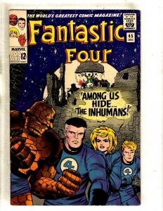 Fantastic Four # 45 VF Marvel Comic Book Thing Dr. Doom Human Torch Inhumans FM3