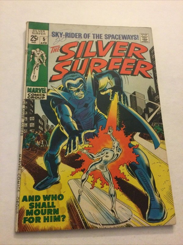Silver Surfer 5 Vg+ Very Good+ 4.5 Water Damage Marvel Comics