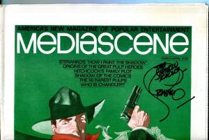 Mediascene #17 1/1976-signed by Steranko Shadow cover-pulp hero origins-VF+