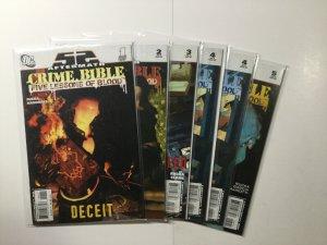 Crime Bible Five Lessons Of Blood 1-5 1 2 3 4 5 Lot Run Fine Fn 6.0 Dc Comics