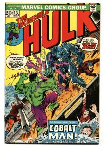 INCREDIBLE HULK #173 comic book COBALT MAN-Marvel 1974 VF