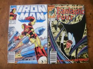 2 MARVEL Comic Book: IRON MAN #277 & FANTASTIC FOUR #267