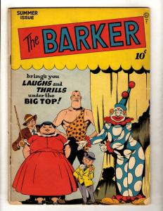 The Barker # 4 FN Golden Age Comic Book Circus Clowns Strongman Big Top JL15