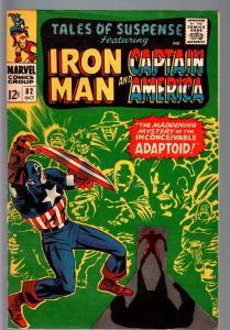 TALES OF SUSPENSE #82 1966-IRON MAN/CAPTAIN AMERICA-MARVEL-FN plus FN+
