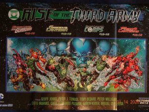 RISE OF THE THIRD ARMY Promo Poster, Green Lantern 22 x 34, 2012, DC Unused 473