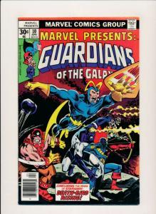 Marvel Presents GUARDIANS OF THE GALAXY #10 April 1977 FINE (PF385)