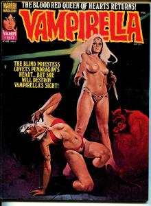 Vampirella #60 1977-Warren-Vampi cover-terror & horror-1st Blind Priestess-VF-