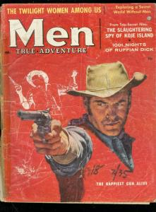 MEN MAGAZINE FEB 1957-JAMES BAMA ART-JUDY FOSTER-PULP FR/G