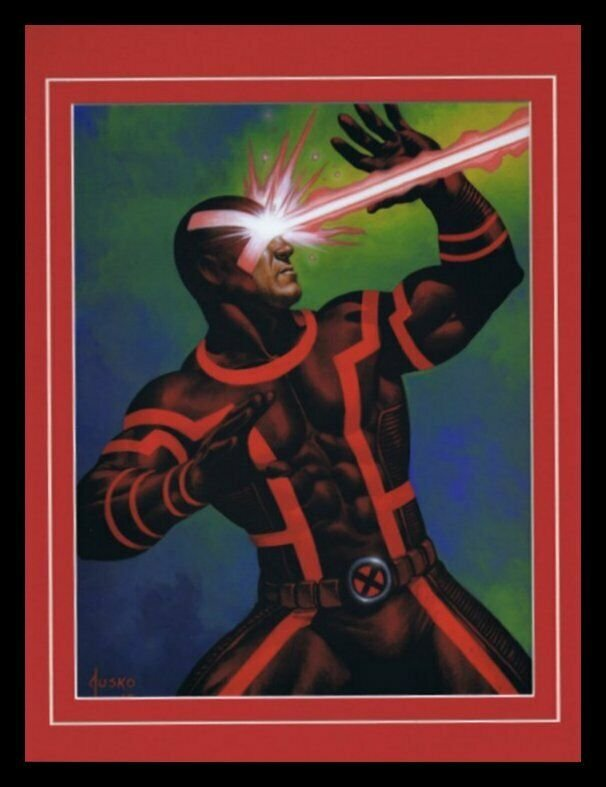 X Men Cyclops Framed 11x14 Marvel Masterpieces Poster Display