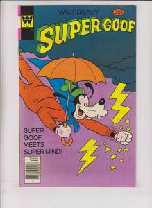 Walt Disney's Super Goof #46 VF/NM april 1978 - super mind - whitman variant