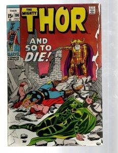 Mighty Thor # 190 VG/FN Marvel Comic Book Loki Odin Asgard Sif Avengers Hulk RB8