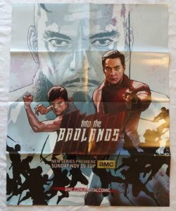 INTO THE BADLANDS Promo poster, 22 x 28, 2015, Martial Unused, 008