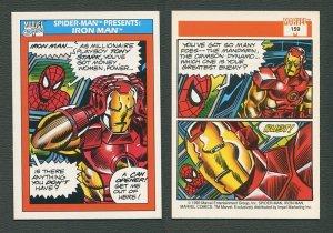 1990 Marvel Comics Card  #159 (Spiderman Presents: Iron Man) NM