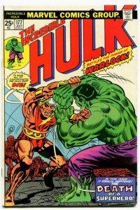 Incredible Hulk #177 (7.5) PERIL ON THE PLURAL PLANET! Warlock App ID06G