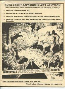 Russ Cochran's Comic Art Catalog #6 1981-Jim Ivey's copy-Jack Davis-Wally Wood-H