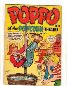 Poppo Of The Popcorn Theatre Vol. # 1 #6 VG Charles Biro Circus Cover Clown JL16