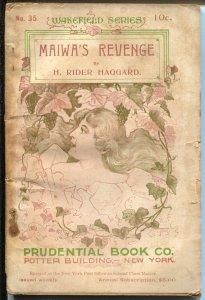 Wakefield Series #35 1900's-Maiwa's revenge-H Ryder Haggard-G