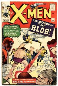 X-MEN #7-MARVEL-MAGNETO-SILVER-AGE-1964-THE BLOB-vg