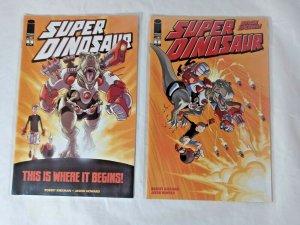 Super Dinosaur 1 Origin Special! 1st Prints Amazon Prime Robert Kirkman Image NM